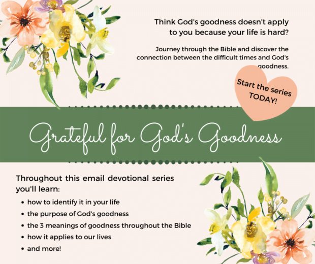 Grateful for God's Goodness devotional email series
